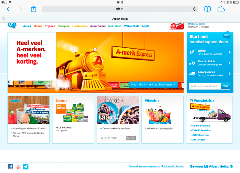 Albert heijn A-merk Express illustraties. Trein illustratie freelance Illustrator André Snoei