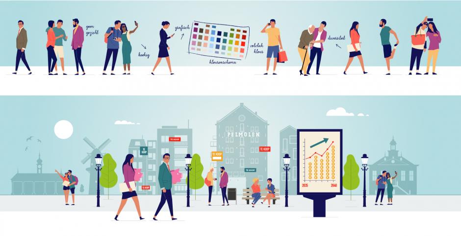 Vlaardingen toekomstvisie freelance illustrator Rotterdam reclamebureau rotterdam infographic laten maken rotterdam