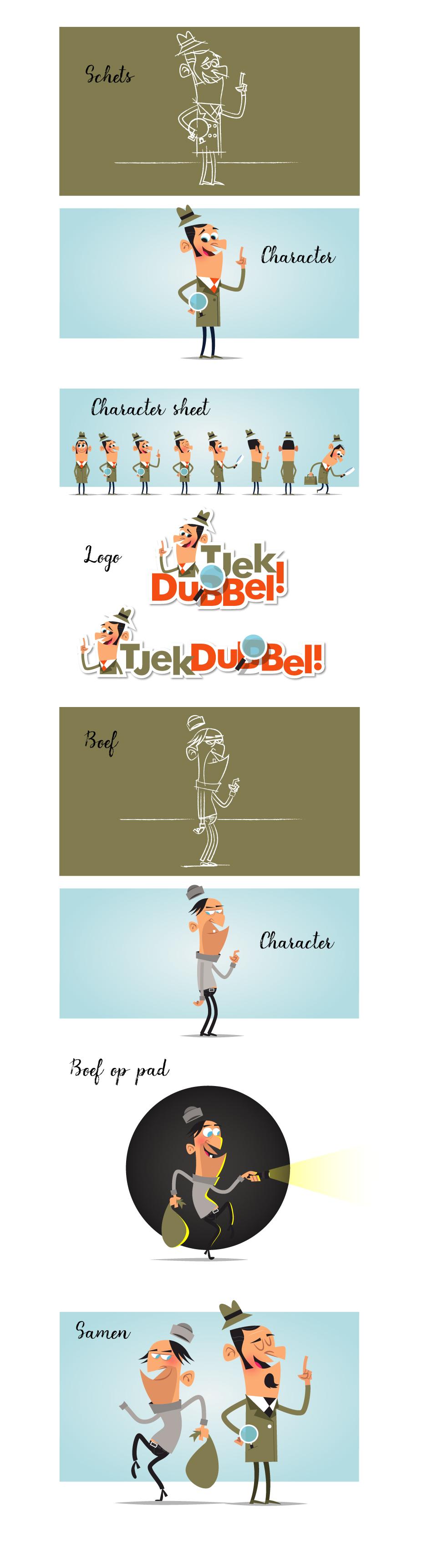 Tjek dubbel characterdesign reclamebureau Rotterdam freelance illustrator infographic laten maken Rotterdam animatie laten maken